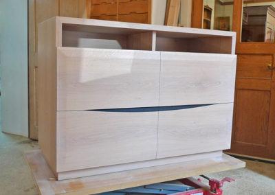 Ebeniste dans l'Eure 27 réalisation d'un meuble de télévision