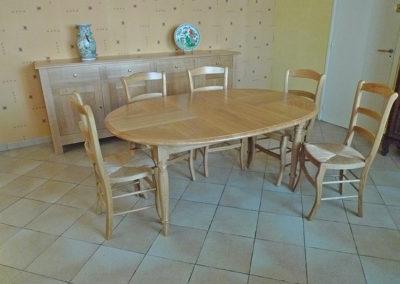 Ebeniste dans l'Eure 27 réalisation d'un meuble de salle a manger